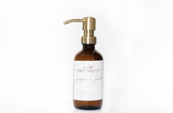 Luxury hand soap by Len + McAddy Home Candle Co